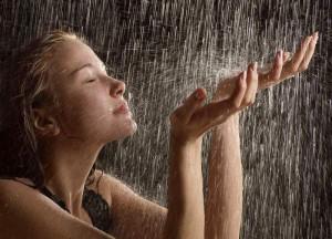 тест человек под дождем